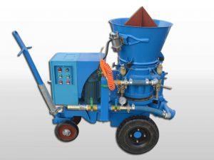 variable spray refractory gunite machine
